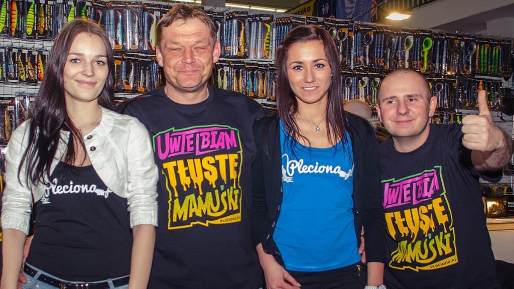 Od lewej:Czarna plecionka, Rafał, Niebieska plecionka, Daniel