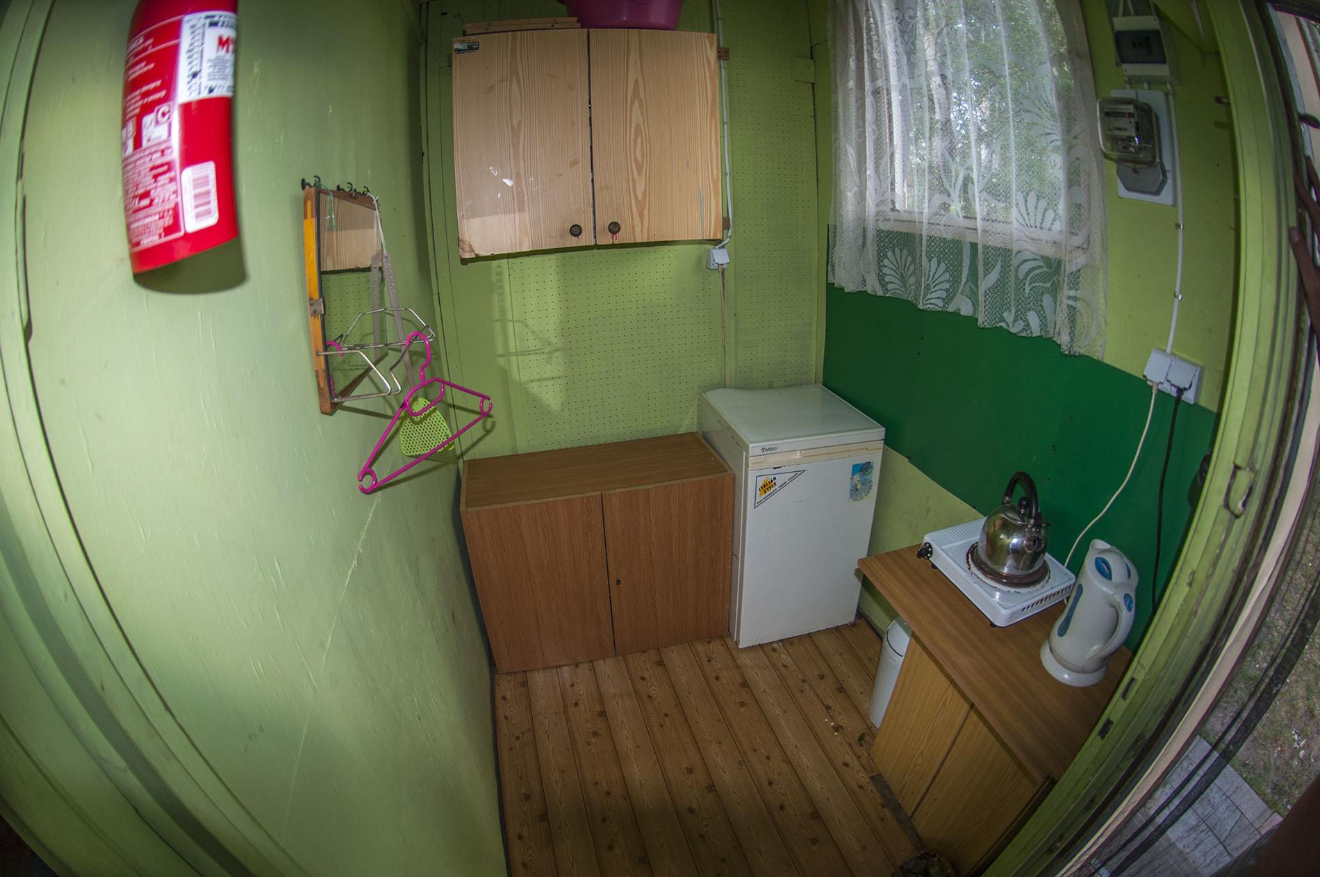 Domki posiadają małe kuchenki, jednak w czasie zawodów nie będą potrzebne.