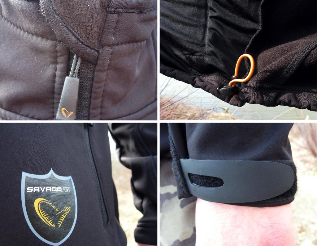 Porządne suwaki w kurtce SavageGear Trend Soft Shell Jacket