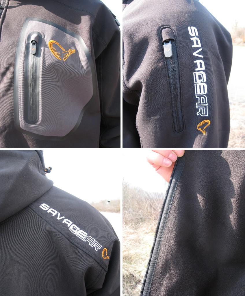 Rzut na detale kurtki SavageGear Trend Soft Shell Jacke