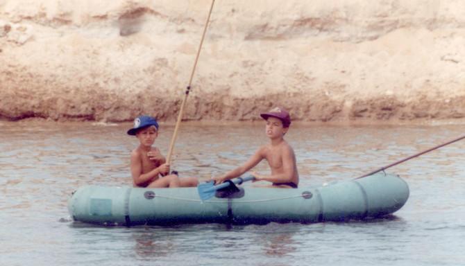 Młody Majki TIM Pleciona łowi na rzece Bug
